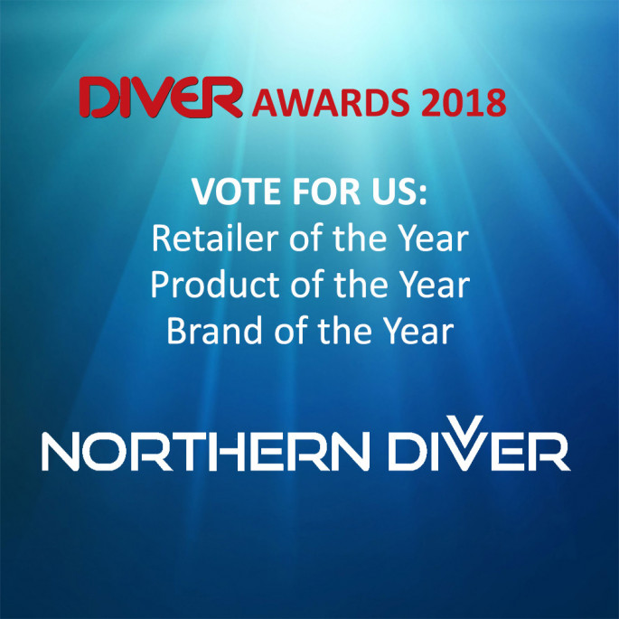 Vote for Northern Diver - retailer, brand and product of the year