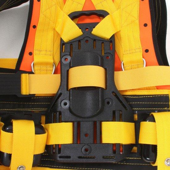 Close up of the R-Vest cylinder backpack