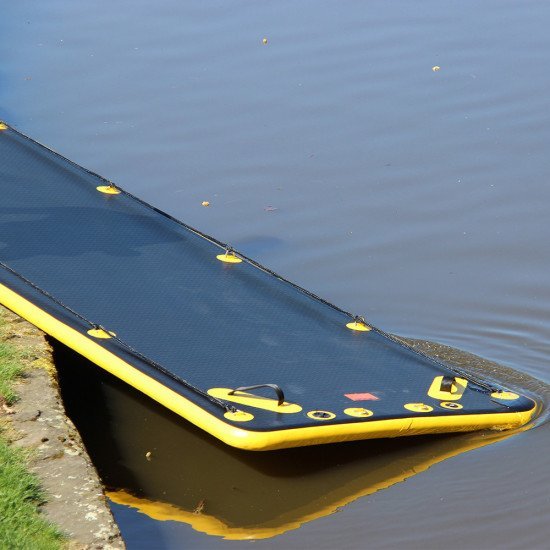 Northern Diver's SRE 10m Inflatable Air Track, easy to slide into the water, even in an emergency
