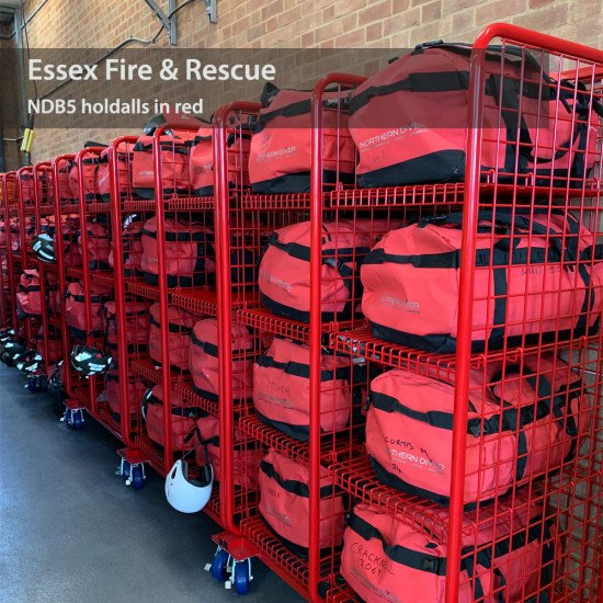 160L NDB5 Red Holdalls in use by the Essex Fire & Rescue Team
