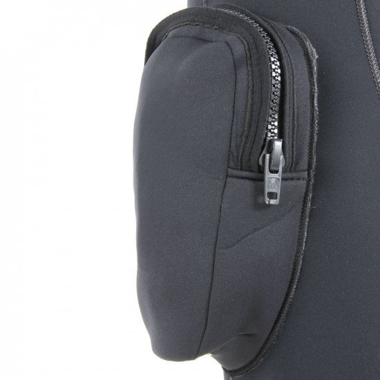 7mm Rear Entry Wetsuit - close-up of zipped transporter pocket