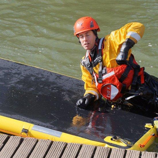 Oxfordshire Fire and Rescue Service using Northern Diver's Arctic Survivor Evo X PFD