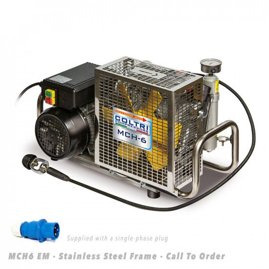 MCH6-EM-Portable-Compressor-Stainless-Steel-Frame-Front-View