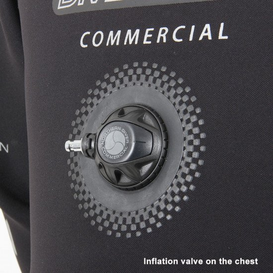 Divemaster Commercial inflation valve on the chest