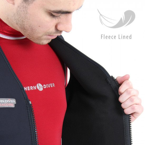 The 'Electracore' has been made using a flexible 3.0mm black neoprene shell along with a snug fleece inner lining