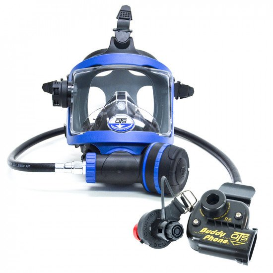 Blue colour OTS Guardian Full Face Mask and BuddyPhone Combo