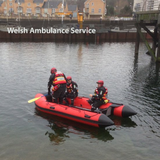 Welsh Ambulance Service on the water in a Northern Diver aluminium floored boat