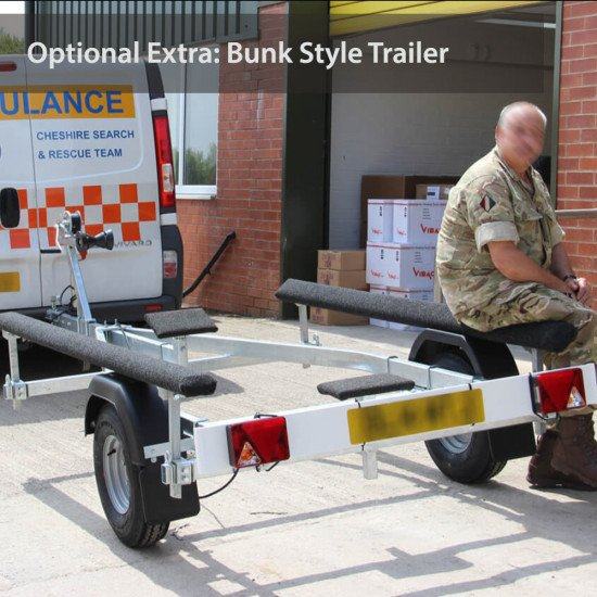 Inflatables with aluminium floor optional extra of Bunk style trailer to accompany your boat
