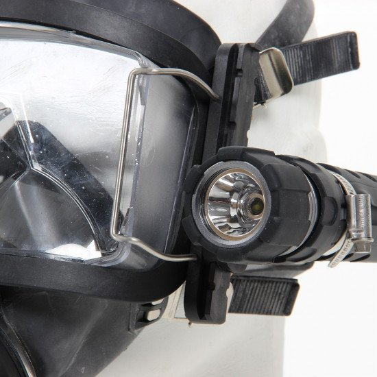 Aga Rail attached to Divator Mask- Mask Mounting Rail System attached to Divator Mask