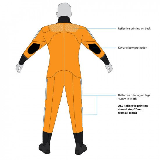 4mm Swimmer Of The Watch Drysuit - back view