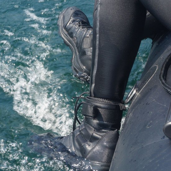 These boots are designed to expel water post-dive