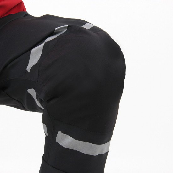 Double layer knee panels for additional protection on the storm force 5 rescue suit