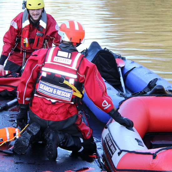 Storm force 5 rescue suit on a training day