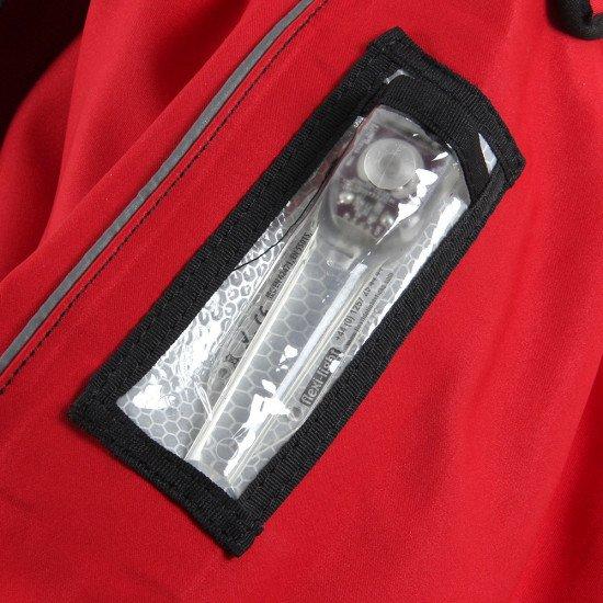 Flexi-light arm pocket on the storm force membrane rescue suit