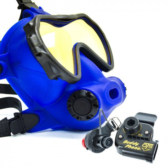 Spectrum Full Face Mask, Colour Blue, Lens Coated with BuddyPhone