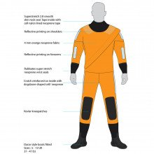 4mm Swimmer Of The Watch Drysuit - front view
