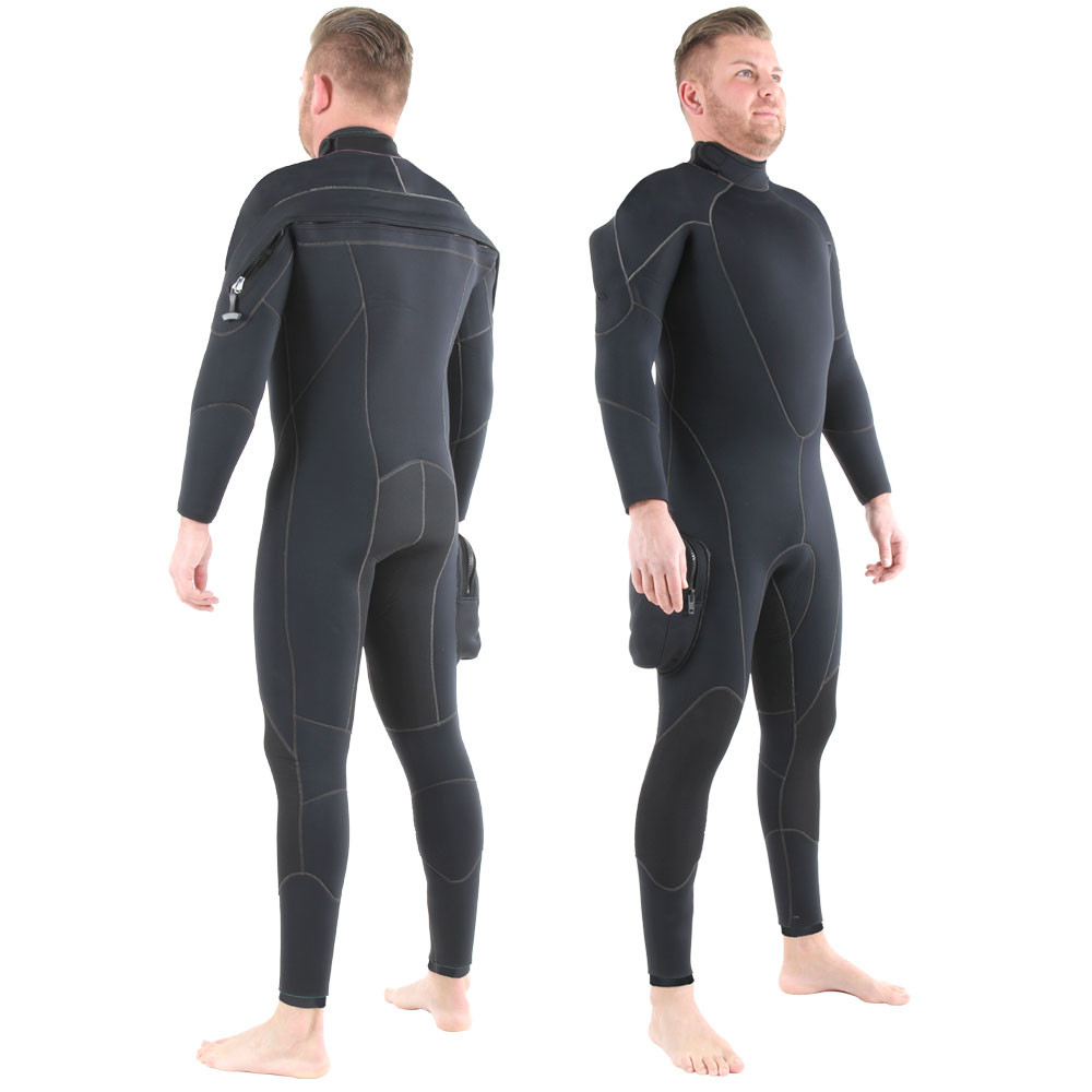 7mm Rear Entry Wetsuit - front & back shots