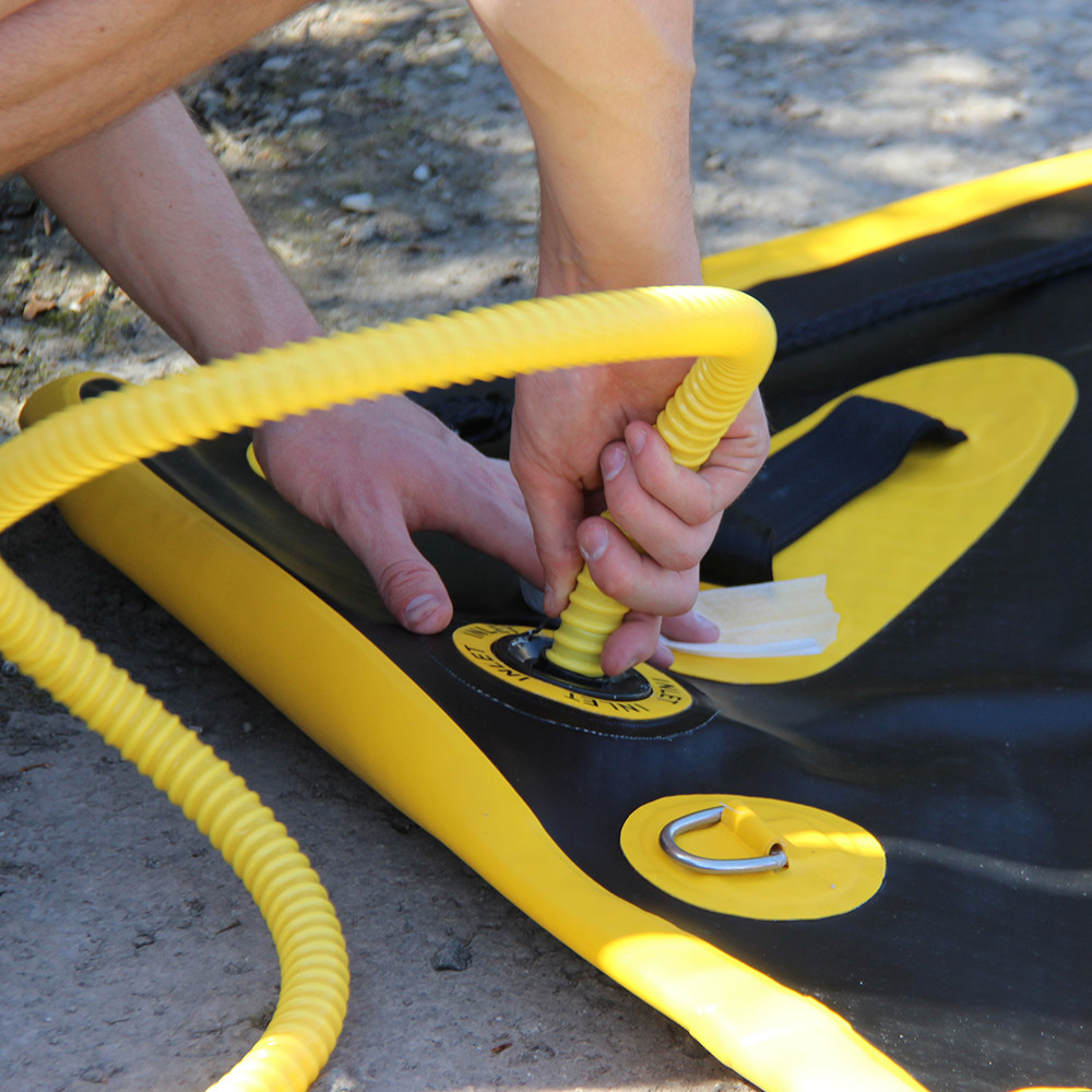 Northern Diver's SRE 5m Inflatable Air Track, inflatation