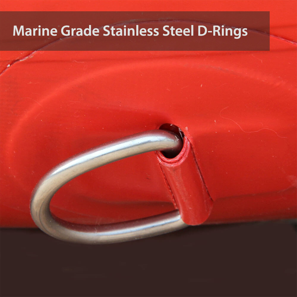 All our inflatable boats come with Marine Grade Stainless Steel D-rings